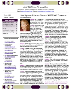 NMTESOL Newsletter Winter 09