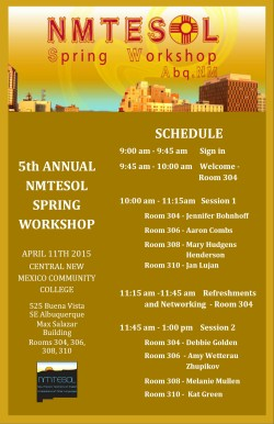 2015 Spring Workshop Program