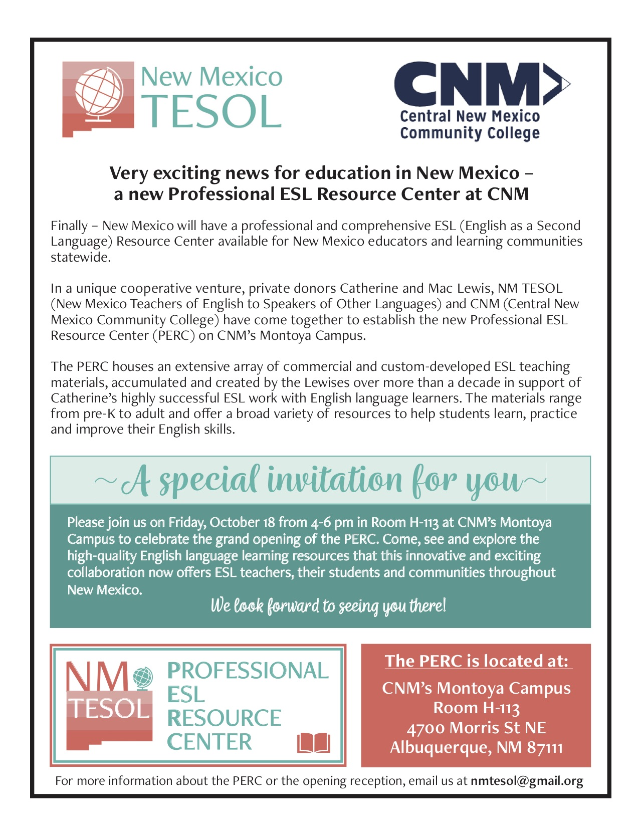PERC flyer